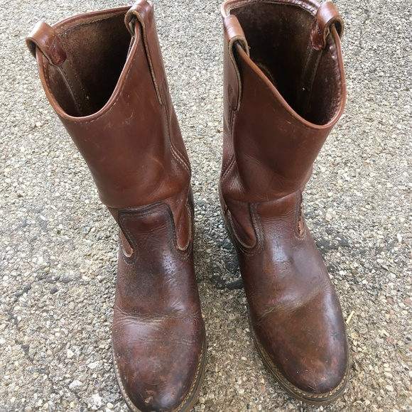 Red Wing Cowboy Boots 55d Usa